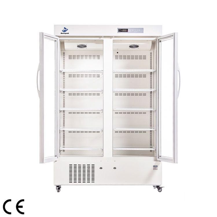 2-8 ℃ Double Door Pharmaceutical Refrigerator