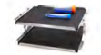 Double stainless steel tray