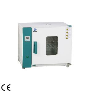 Horizontal drying oven forced air with time-control and stainless frame