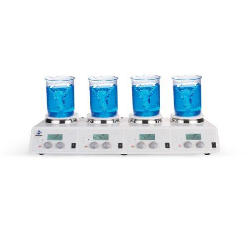 LCD 4-Channel Digital Hotplate Magnetic Stirrer