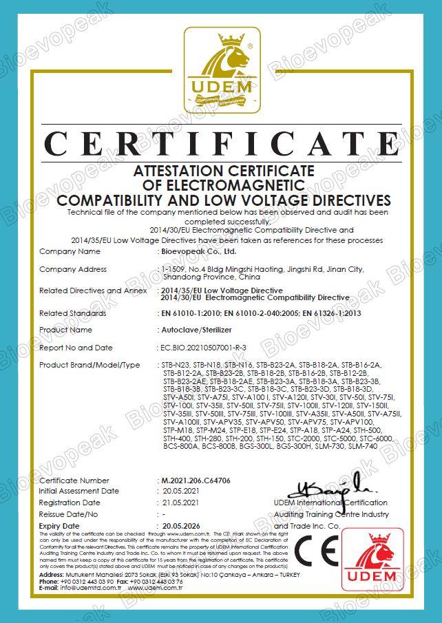 Autoclave CE Verification 01