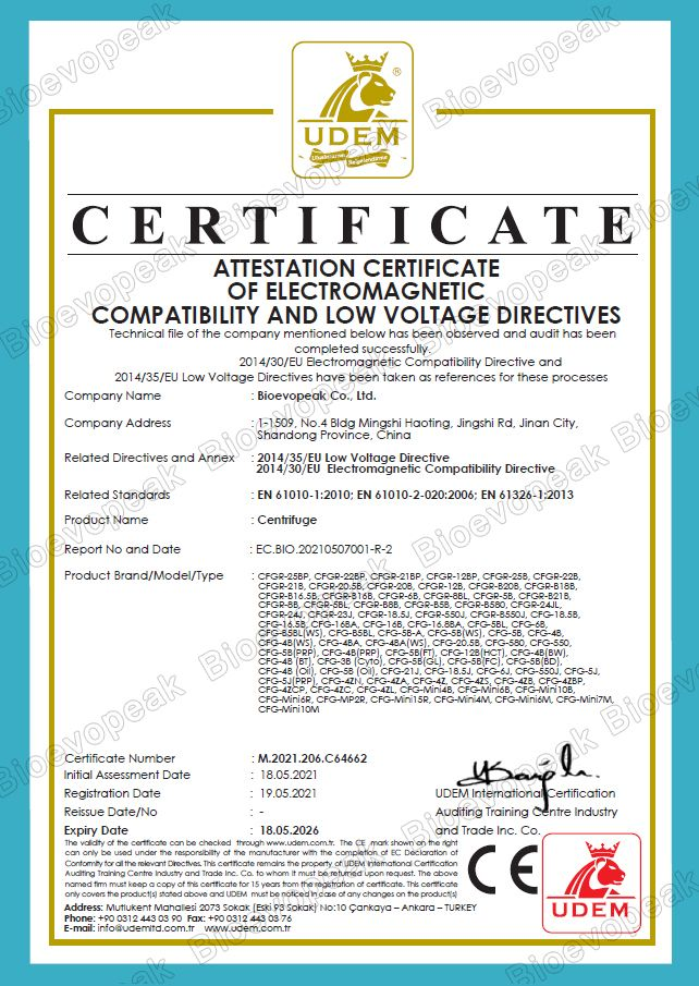 Centrifuge CE Verification 01