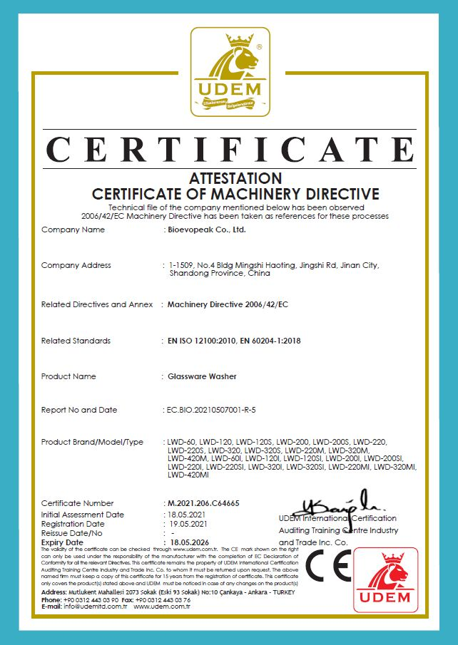 Glassware washer CE Verification 02