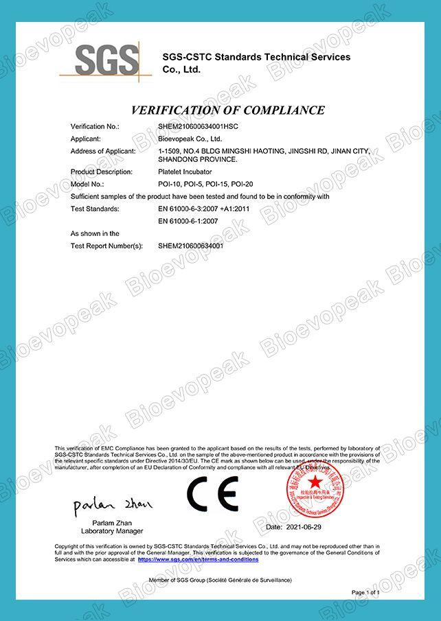 Incubator CE Verification 03